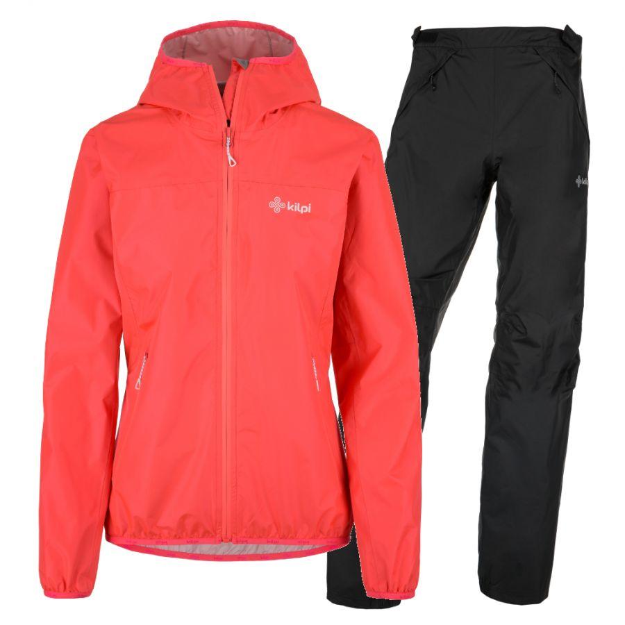 Kilpi Hurricane/Alpin regntøj sæt, dame, pink/sort