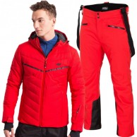 4F Bernie/Herbert skisæt, herre, rød/sort