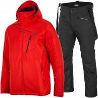 4F Leslie/Herbert skisæt, herre, rød/sort