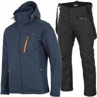 4F Leslie/Herbert skisæt, herre, mørkeblå/sort