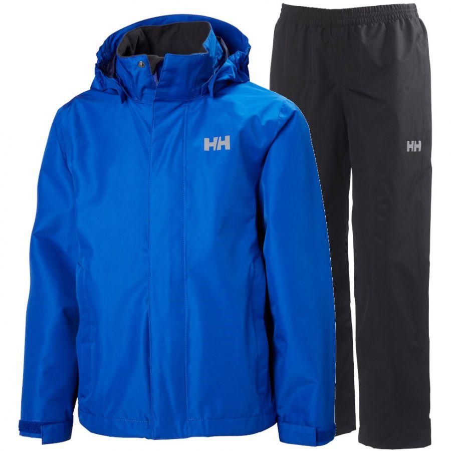 Helly Hansen Seven J, regnsæt, junior, blå/sort