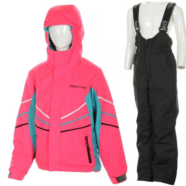 DIEL Felix/Fifo skisæt, pige, pink/sort