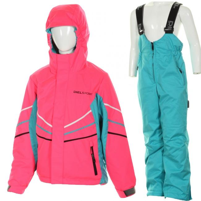 DIEL Felix/Fifo skisæt, pige, pink/blå