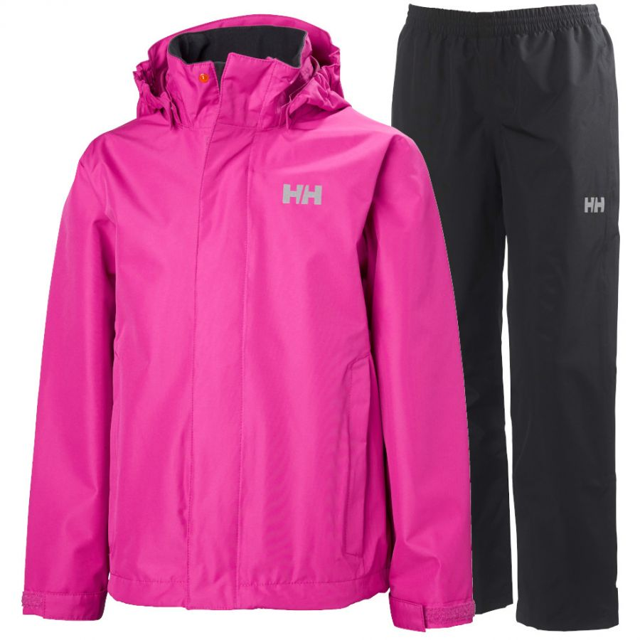 Helly Hansen Seven J, Regntøy, Junior, Dragon/Black