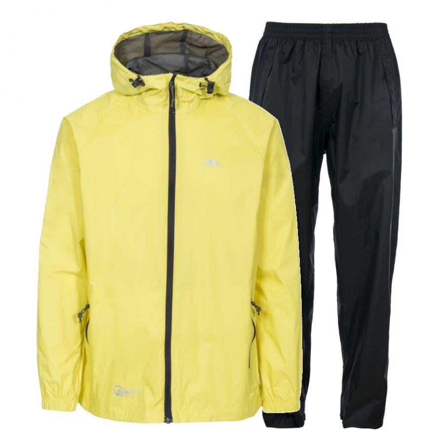 e5f54c31 Trespass Qikpac, regnsæt, unisex, gul/sort - Skisport.dk SkiShop