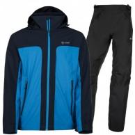 Kilpi Ortler/Alpin regntøj sæt, herre, blå/sort