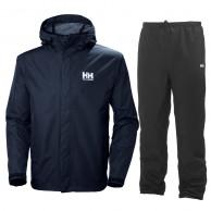 Helly Hansen Seven J, regntøj, sæt, mænd, mørkeblå/sort