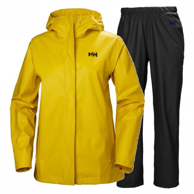 Helly Hansen Moss regnsæt, dame, gul/sort