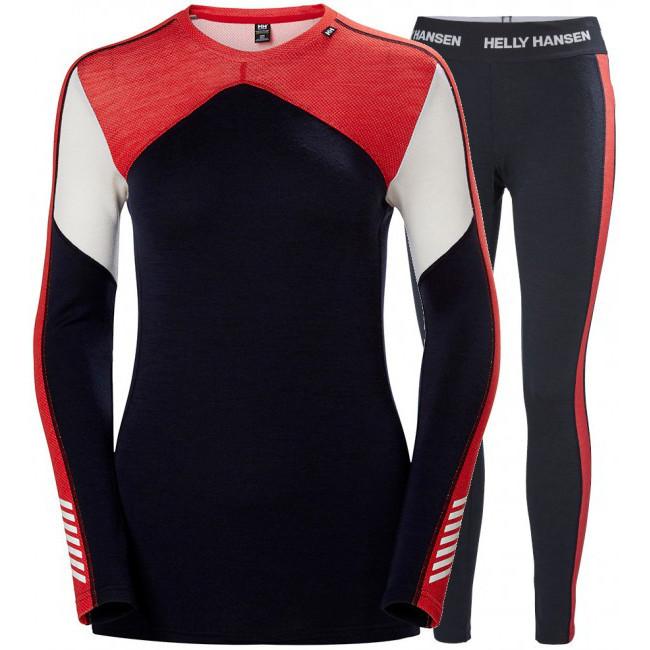 Helly Hansen Lifa Merino skiundertøj, sæt, dame, mørkeblå