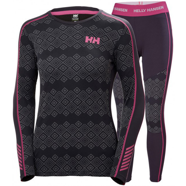 Helly Hansen Lifa Active Graphic Undertøysett, Dame, nightshade