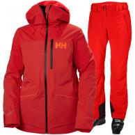 Helly Hansen Powchaser Lifaloft/Legendary skisæt, dame, rød