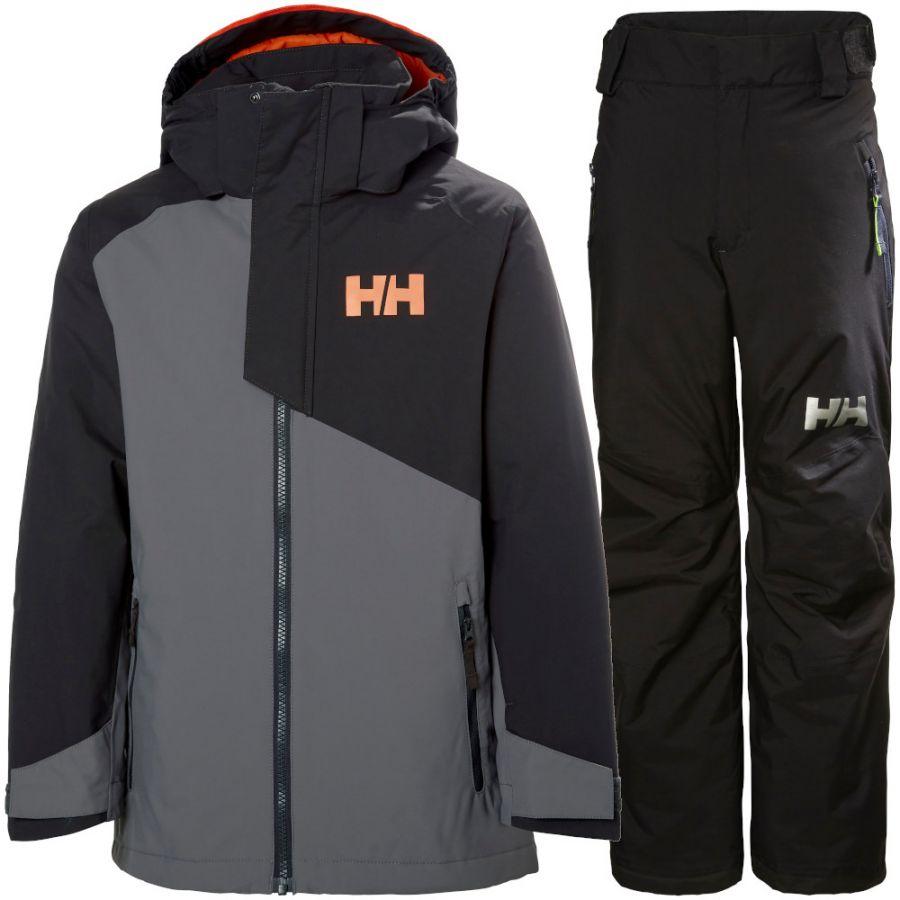 Helly Hansen Cascade/Legendary skisæt, junior, grå/sort