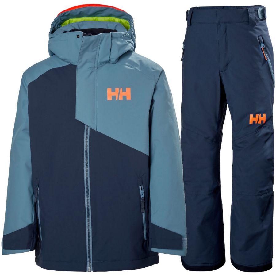 Helly Hansen Cascade/Legendary skisæt, junior, blå