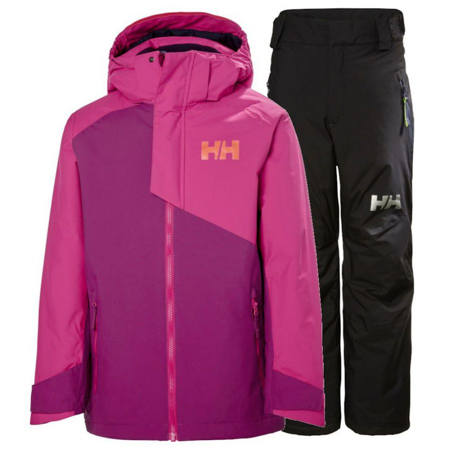 Helly Hansen Cascade/Legendary skisæt, junior, lilla/sort