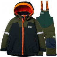 Helly Hansen Legend//Rider Bib skisæt, junior, grøn/blå