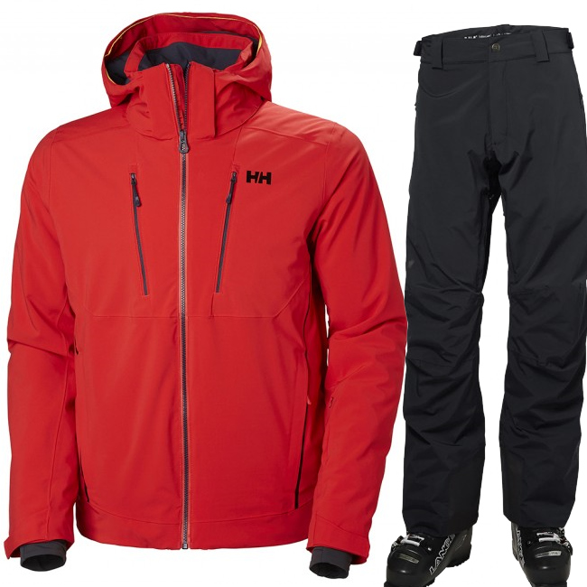Helly Hansen Alpha 3.0/Legendary skisæt, herre, rød/sort