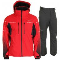 DIEL Sam/Parson skisæt, herre, rød/sort