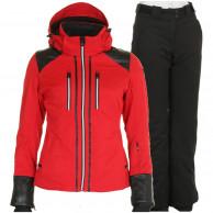 DIEL Farida/Pamela skisæt, dame, rød/sort