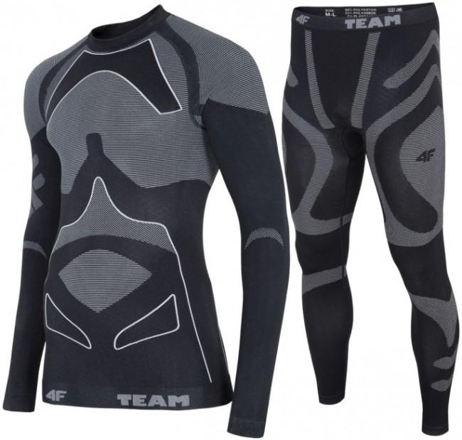 4F skiundertøj sæt, herre, grå