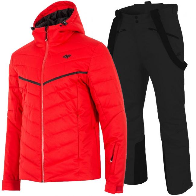 4F Bernie/Hardi skisæt, herre, sort/rød