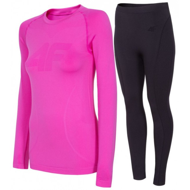 4F skiundertøj sæt, dame, pink/black