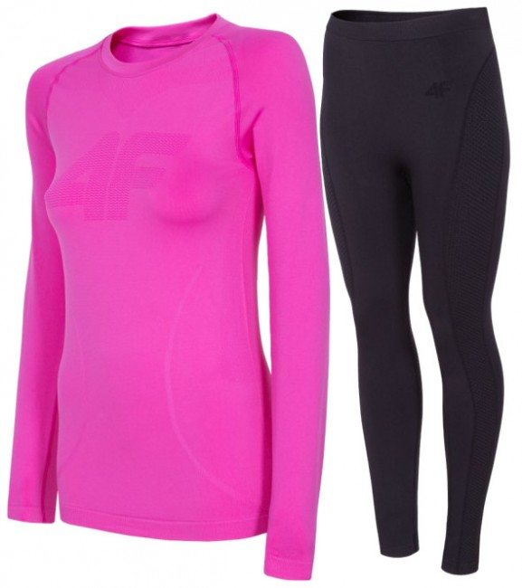 4F skiundertøj, women, pink/black