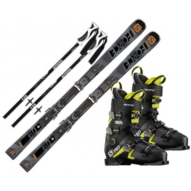 Salomon S/FORCE 9 + Salomon S/PRO 110 + Accezzi Lite Composite