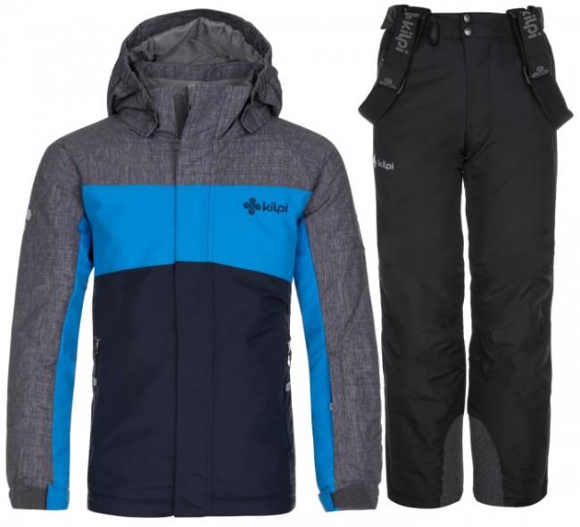 Kilpi Ober-JB/Mimas-JB skisæt, junior, mørkeblå/sort