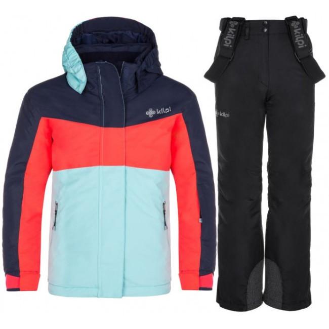 Kilpi Mils/Elare skisæt, junior, pink/sort