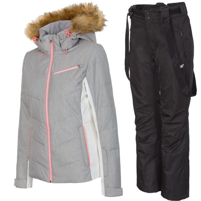 4F Marina/Laura skisæt, dame, grå
