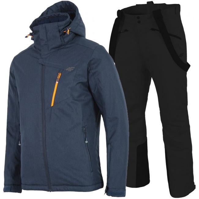 4F Leslie/Hardi skisæt, herre, mørkeblå/sort