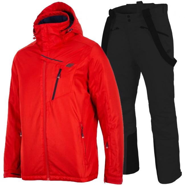 4F Leslie/Hardi skisæt, herre, rød/sort