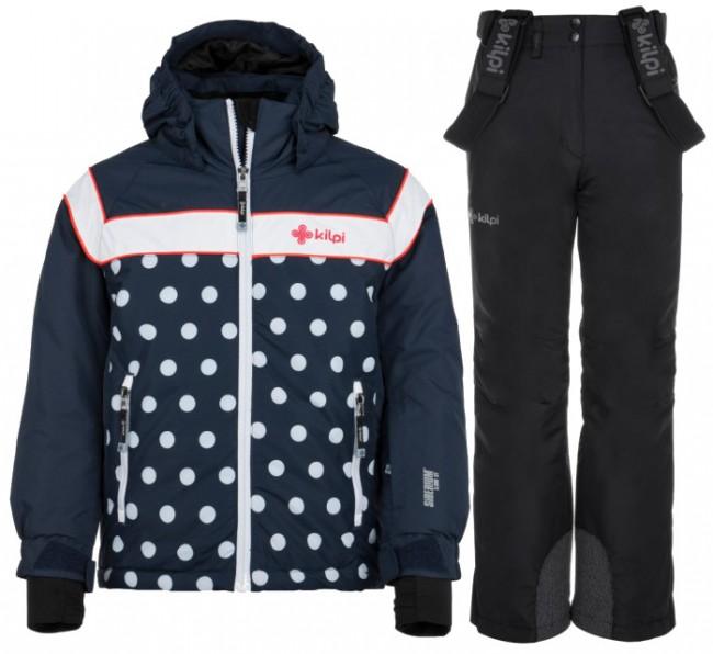 Kilpi Delis/Elare skisæt, junior, mørkeblå/sort