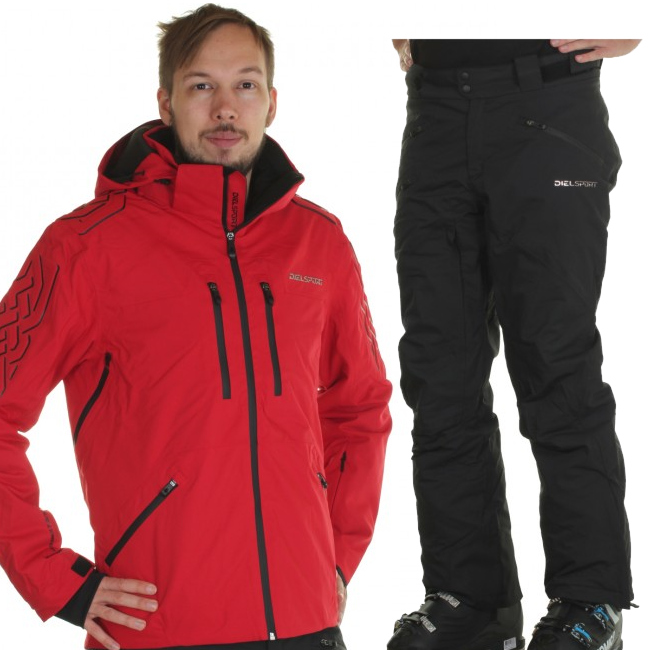 DIEL Aspen/Alta Badia skidset, herr, röd/svart