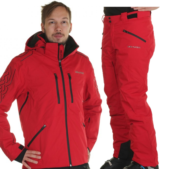 DIEL Aspen/Alta Badia skidset, herr, röd