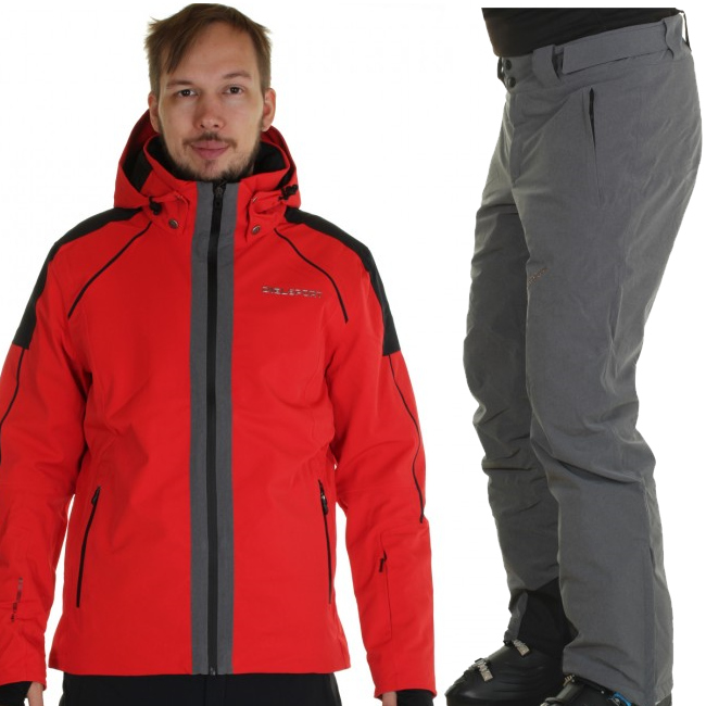 DIEL St. Moritz/Garmisch P skidset, herr, röd/svart
