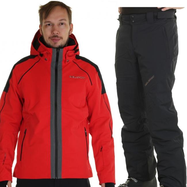 DIEL St. Moritz/Garmisch P skidset, herr, röd/grå