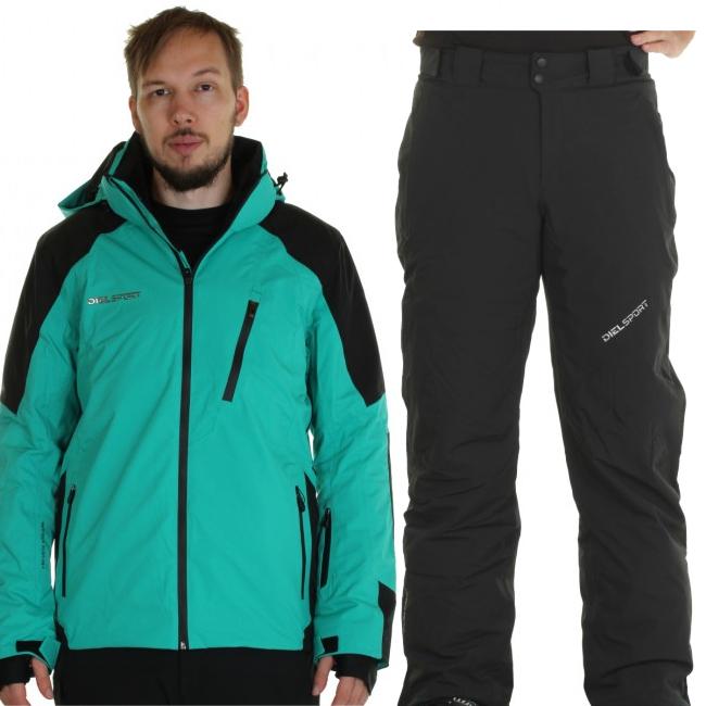 DIEL Méribel/Mallnitz skisæt, herre, grøn/sort