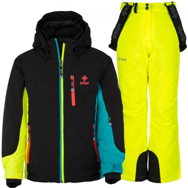 Kilpi Sawa/Europa-JG skisæt, pige, sort/gul