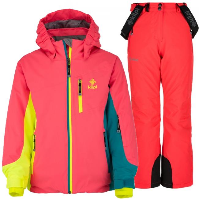 Kilpi Sawa/Europa-JG skisæt, junior, pink