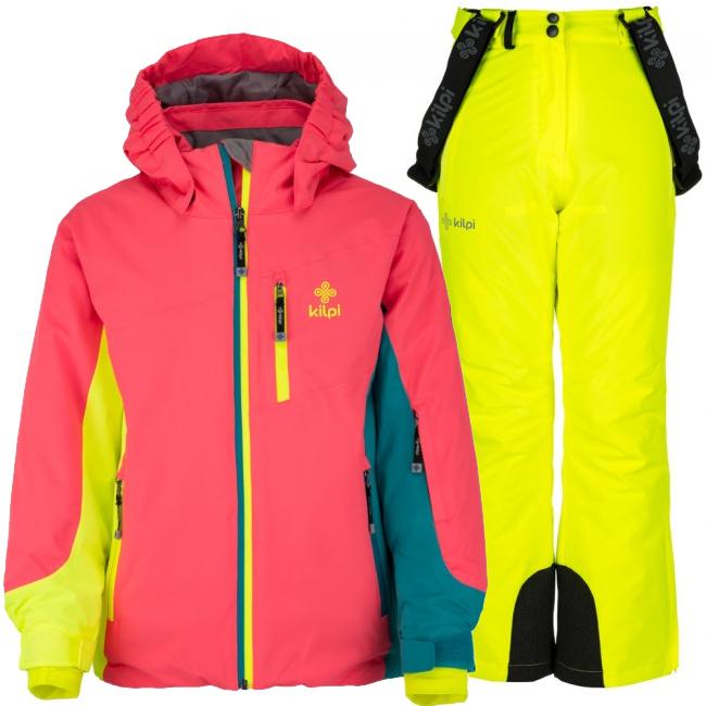 Kilpi Sawa/Europa-JG skisæt, pige, pink/gul