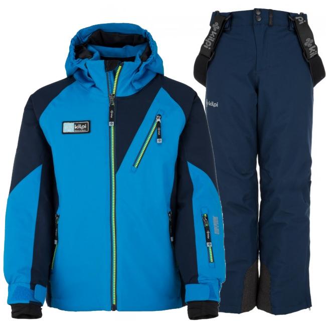 Kilpi Garney/Methone-JB skisæt, dreng, blå/mørkeblå