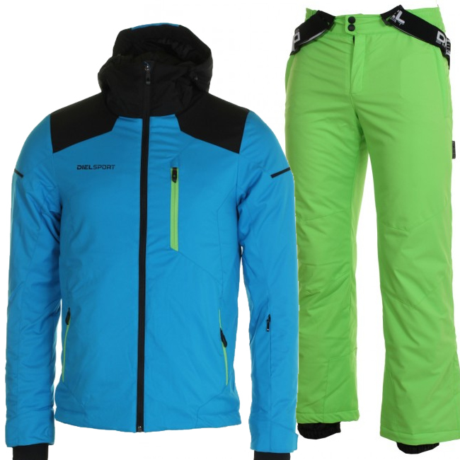 DIEL Arolla/Auron skisæt, børn, lyseblå/grøn