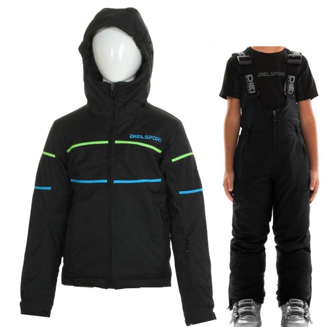 DIEL Sestriere/Sugarloaf skisæt, børn, sort