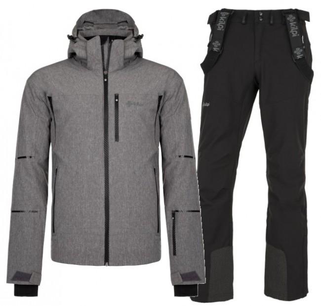 Kilpi Tonn/Rhea skisæt, herre, grå/sort