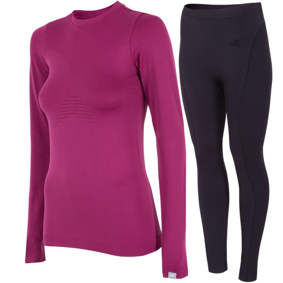 4F baselayer, women, violet/black
