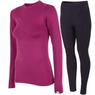 4F skiundertøj sæt, dame, violet/sort