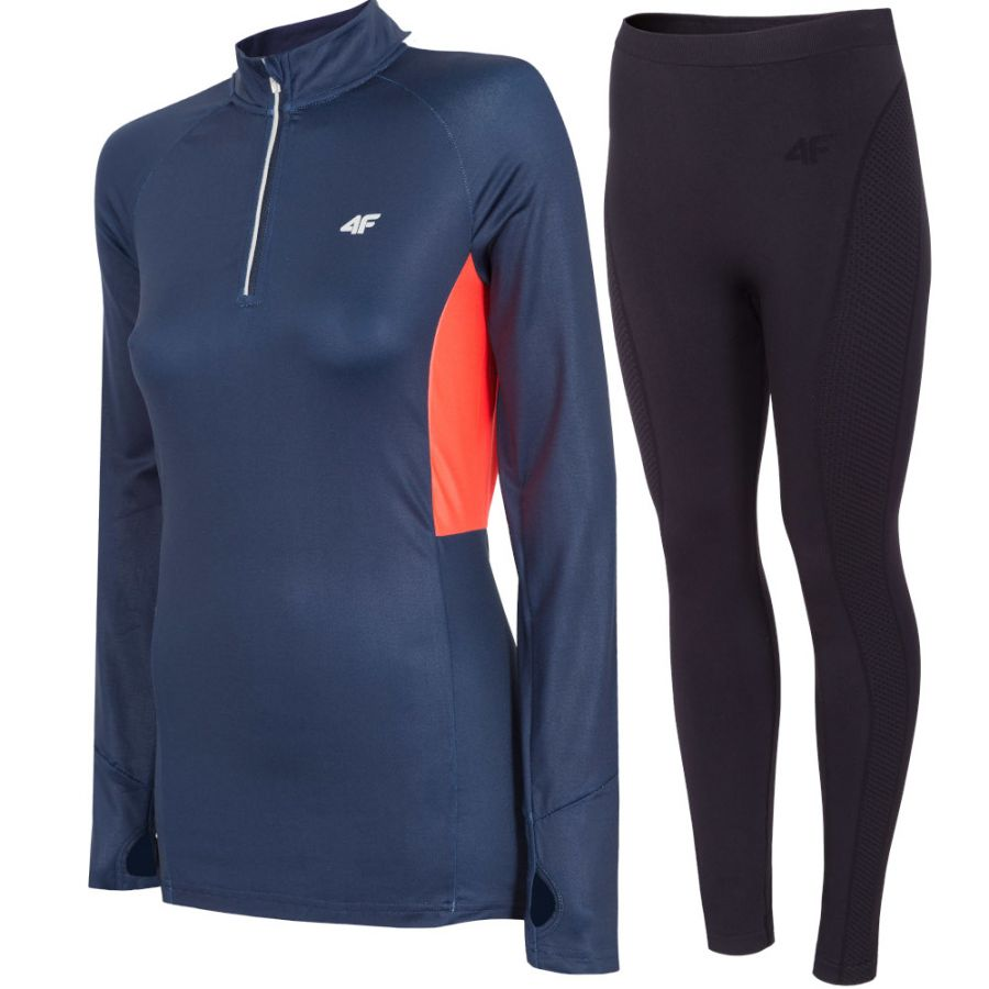 4F baselayer, women, blue/black
