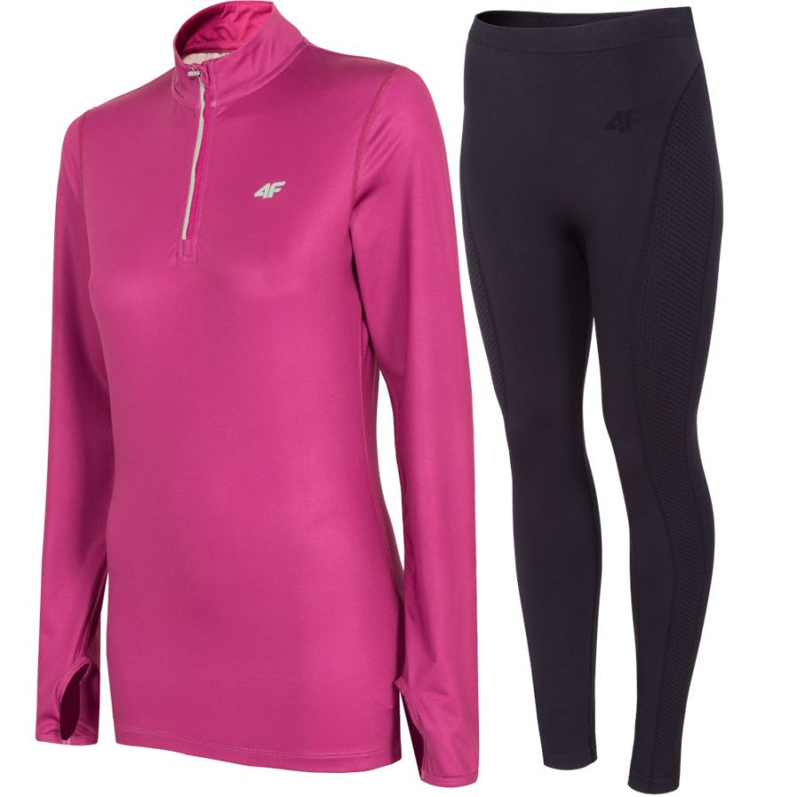 4F baselayer, women, pink/black