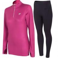 4F skiundertøj sæt, dame, pink/sort